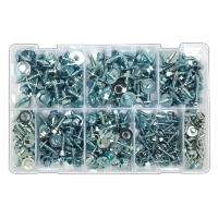 Acme Screw with Captive Washer Assortment 300pc Zinc BS 4174CZ.  AB067SM